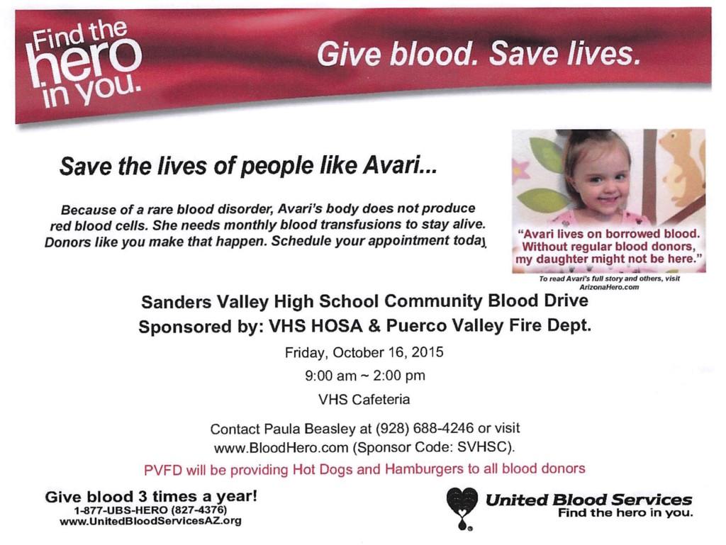 BLOOD DRIVE FLYER 2015
